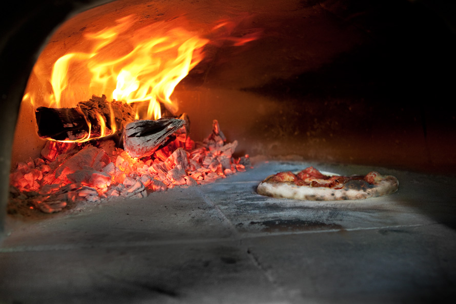 Inside the Bola Pizza Oven