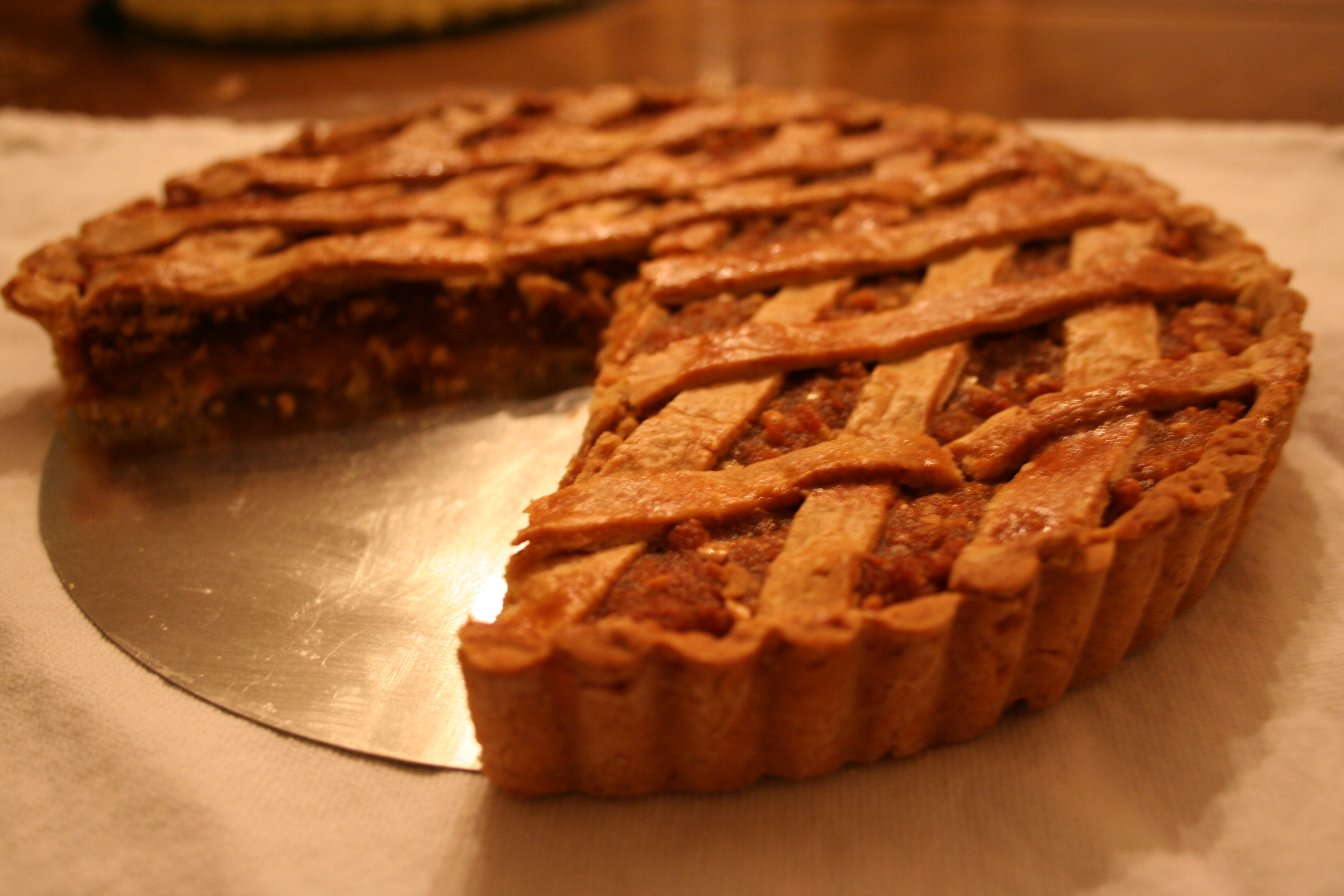 almond ginger peach treacle tart field and feast field