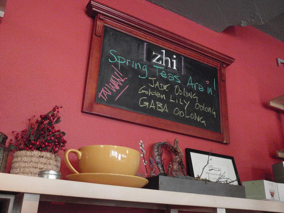 Inside Zhi Tea, Austin, Texas