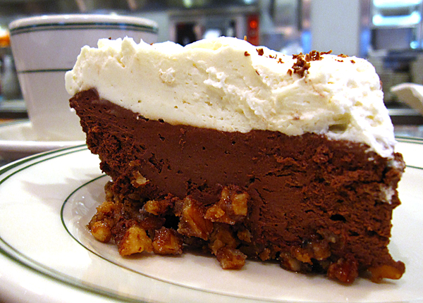 Monument Cafe Chocolate Pie with Pecan Crust, photo © Mike Sutter / Fed Man Walking
