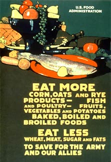 WWII Eat Less Meat Poster