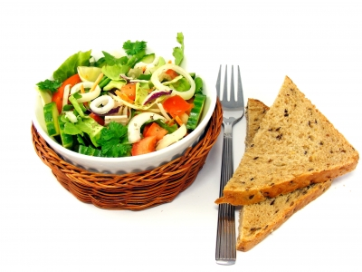 Healthy Salad with Multi-Grain Bread, Image: FreeDigitalPhotos.net