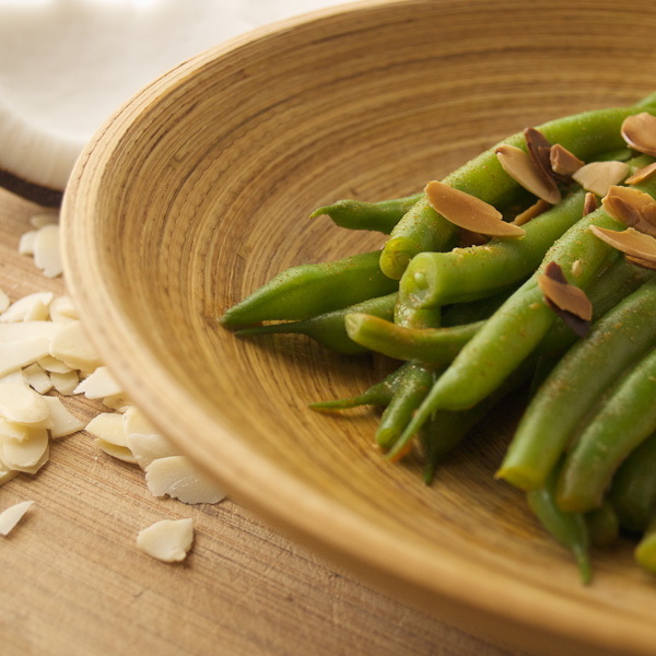 Coconut-Almond Green Beans, Photo by David Humphreys