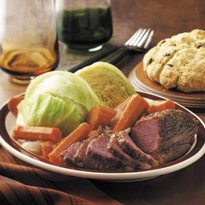 Corned Beef and Cabbage, Image Taste of Home