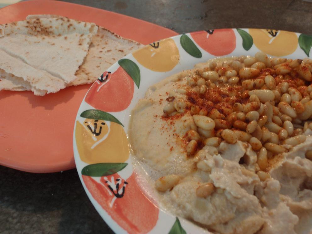 Hummus with Pine Nuts and Sumac