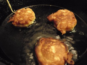 Fritters turned