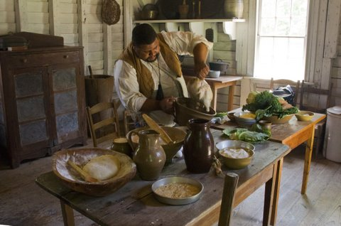 """Michael Twitty cooking """"old school."""""""