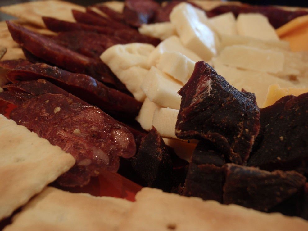 Larry Burrier's homemade sausage, jerky and cheese