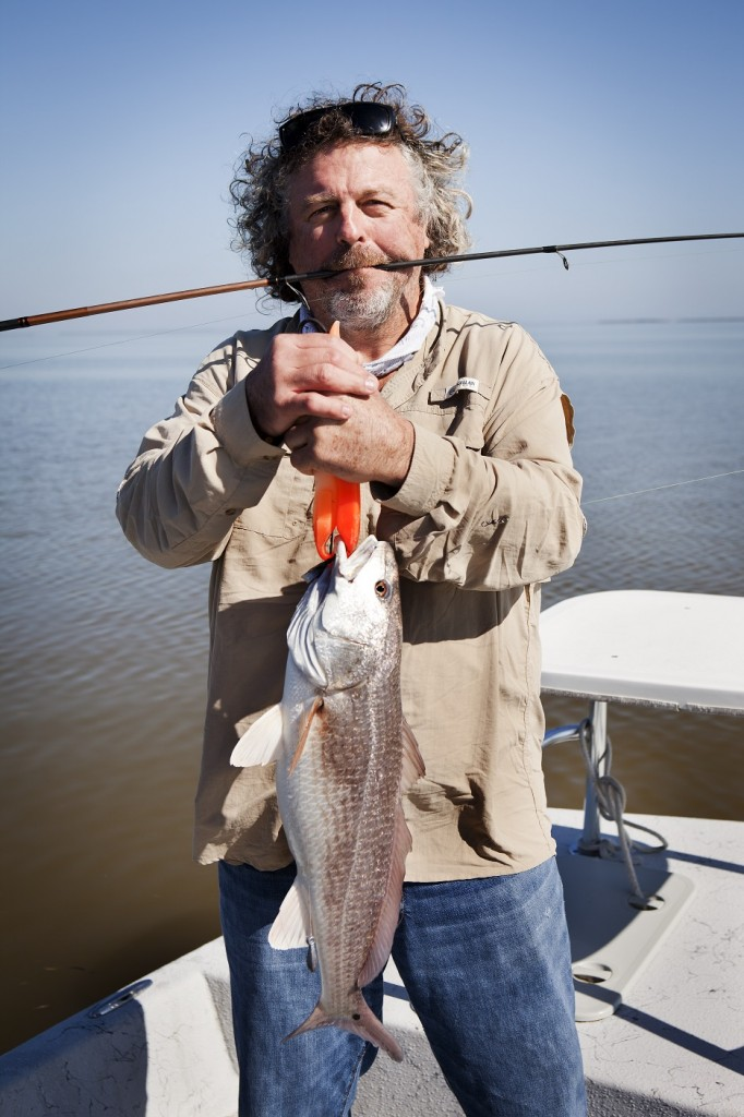 Jack Gilmore fishing in the Texas Gulf