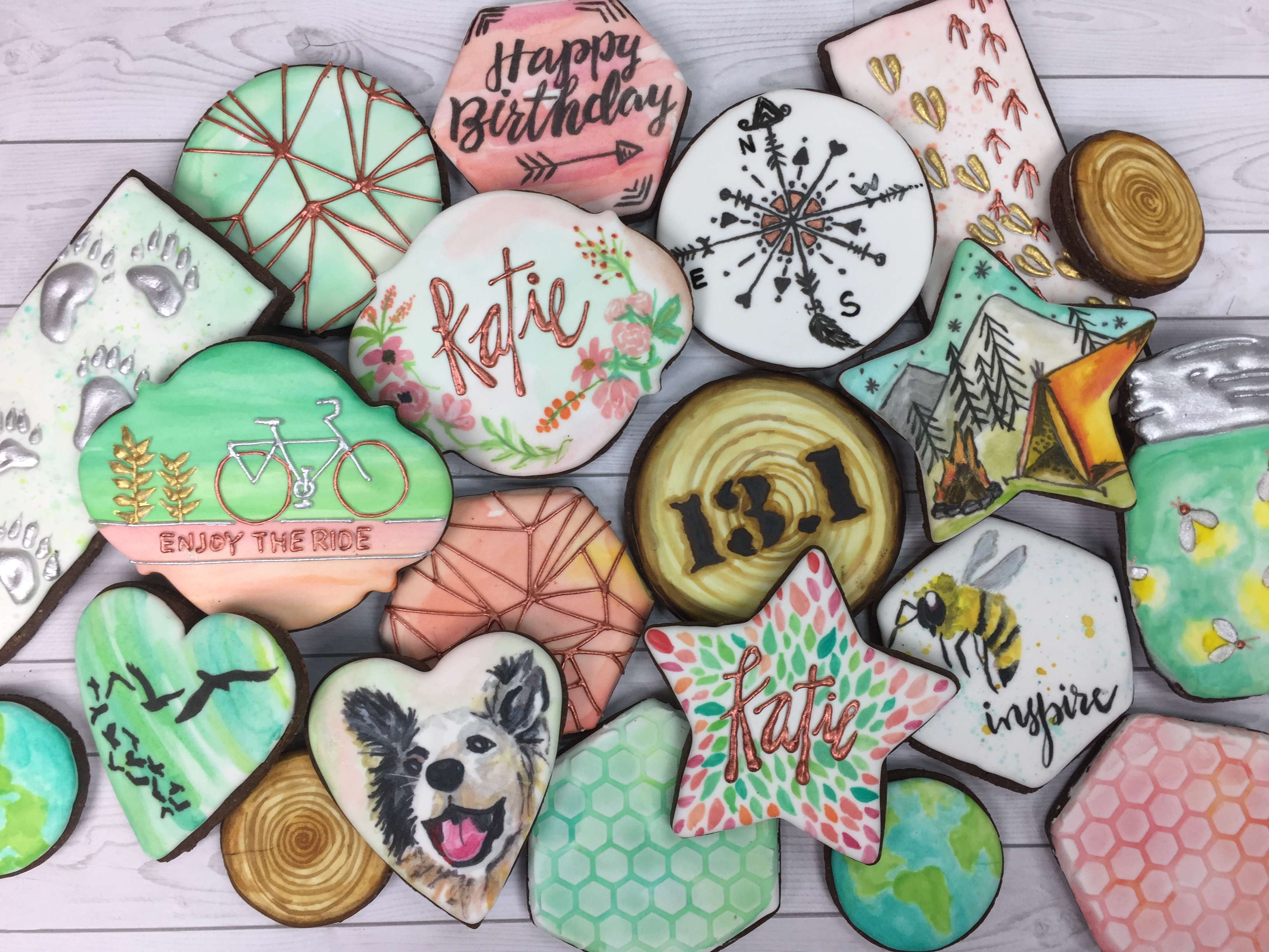 Painted cookies from Sara's Sweets.